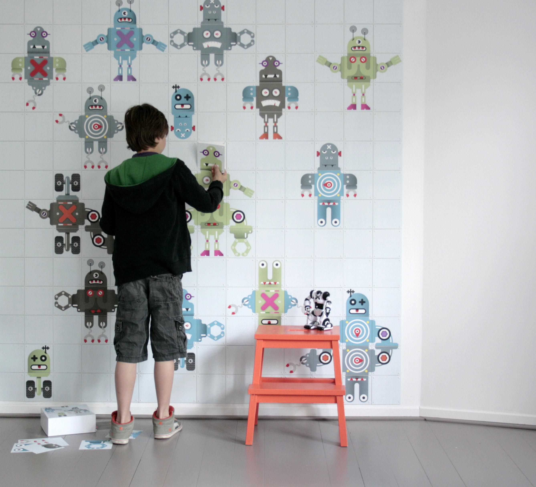 Home Decoration Kids Kids Wallpaper Robot Mural 15 m 2676x2432