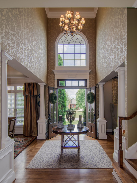 Foyer Wallpaper Home Design Ideas Pictures Remodel and Decor 550x734