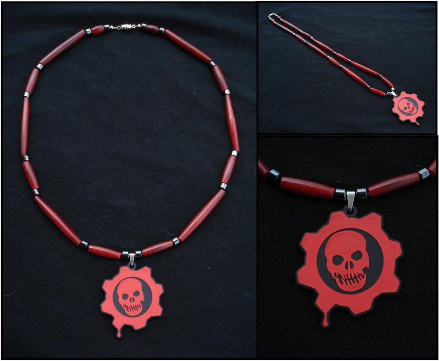 Gears of War Crimson Omen Necklace by RebelATS 900x739