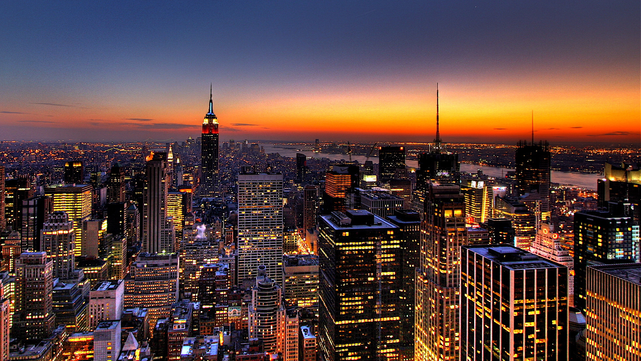 City night wallpaper hd wallpapersafari for New york city beautiful