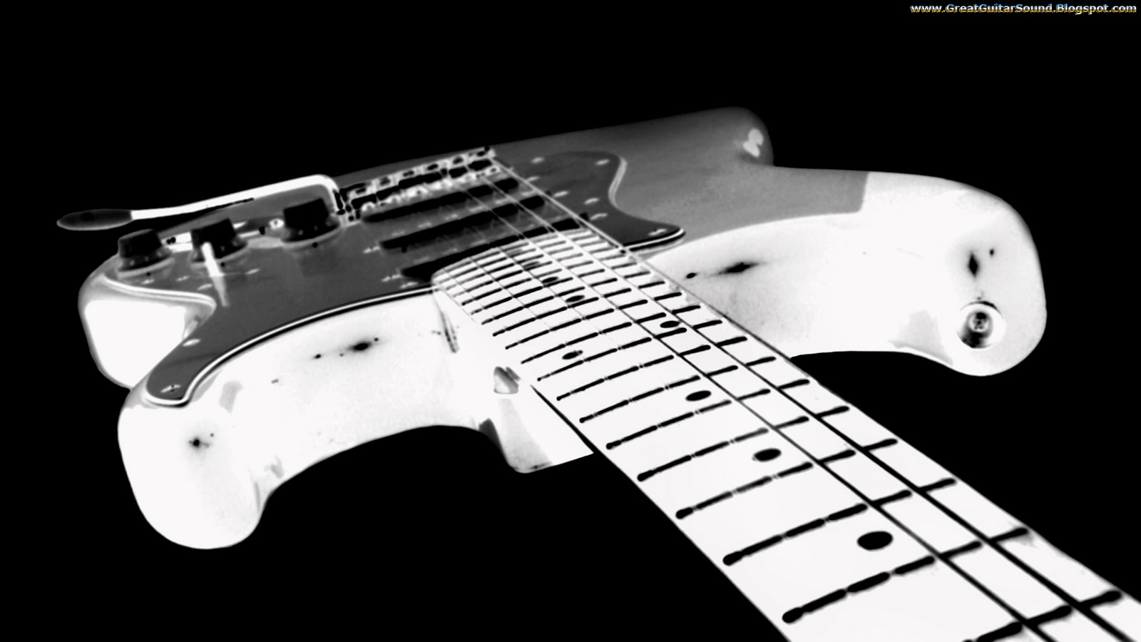 Guitar Wallpaper   Black And White Fender Stratocaster Electric Guitar 1600x900