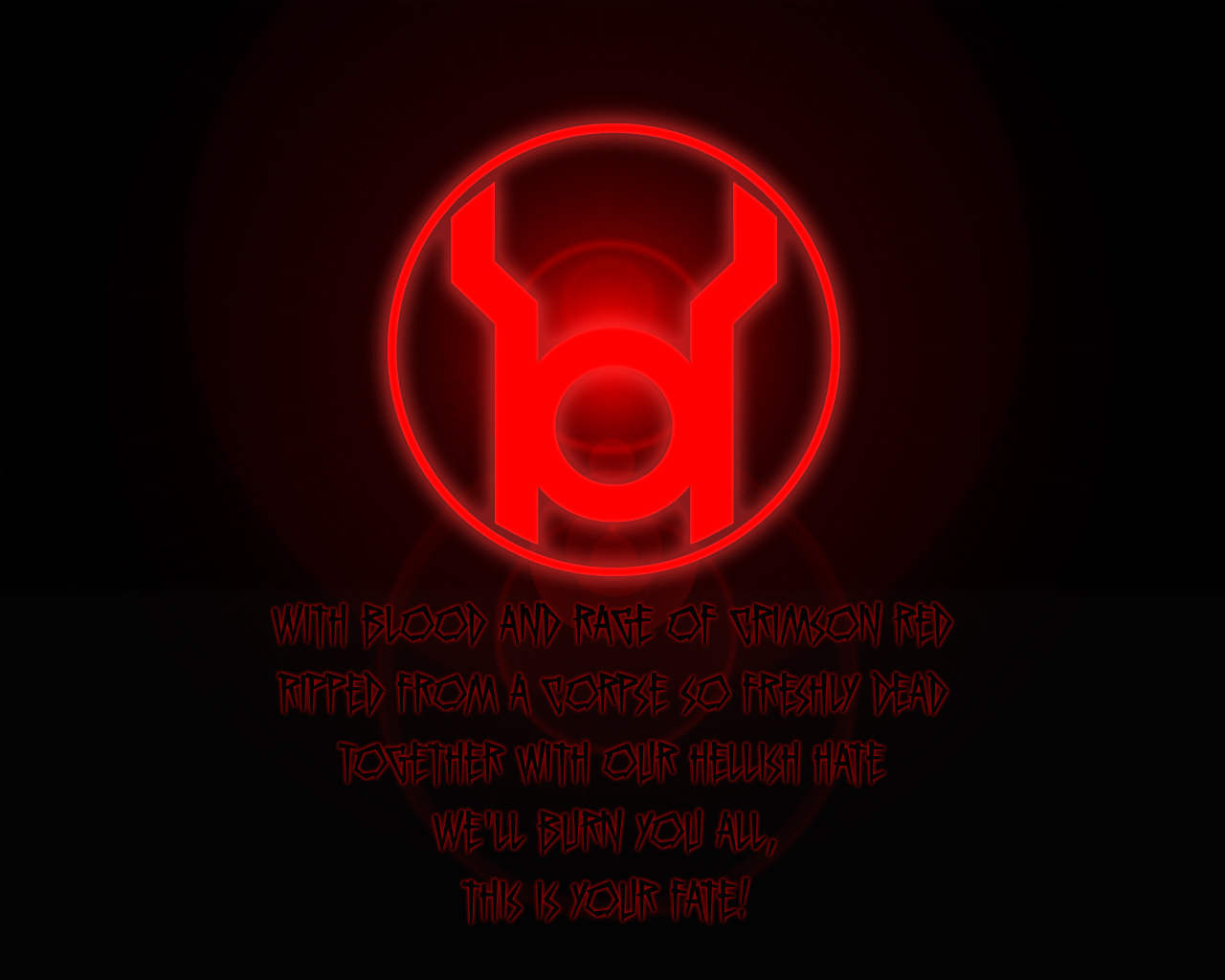 GL Desktop Red Lantern Oath by saikat4ever 1280x1024