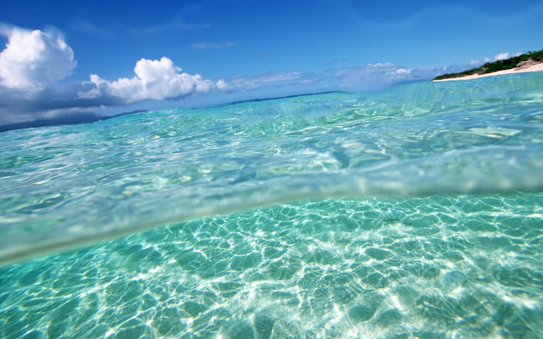 Clear Sea Water wallpaper 1728x1080