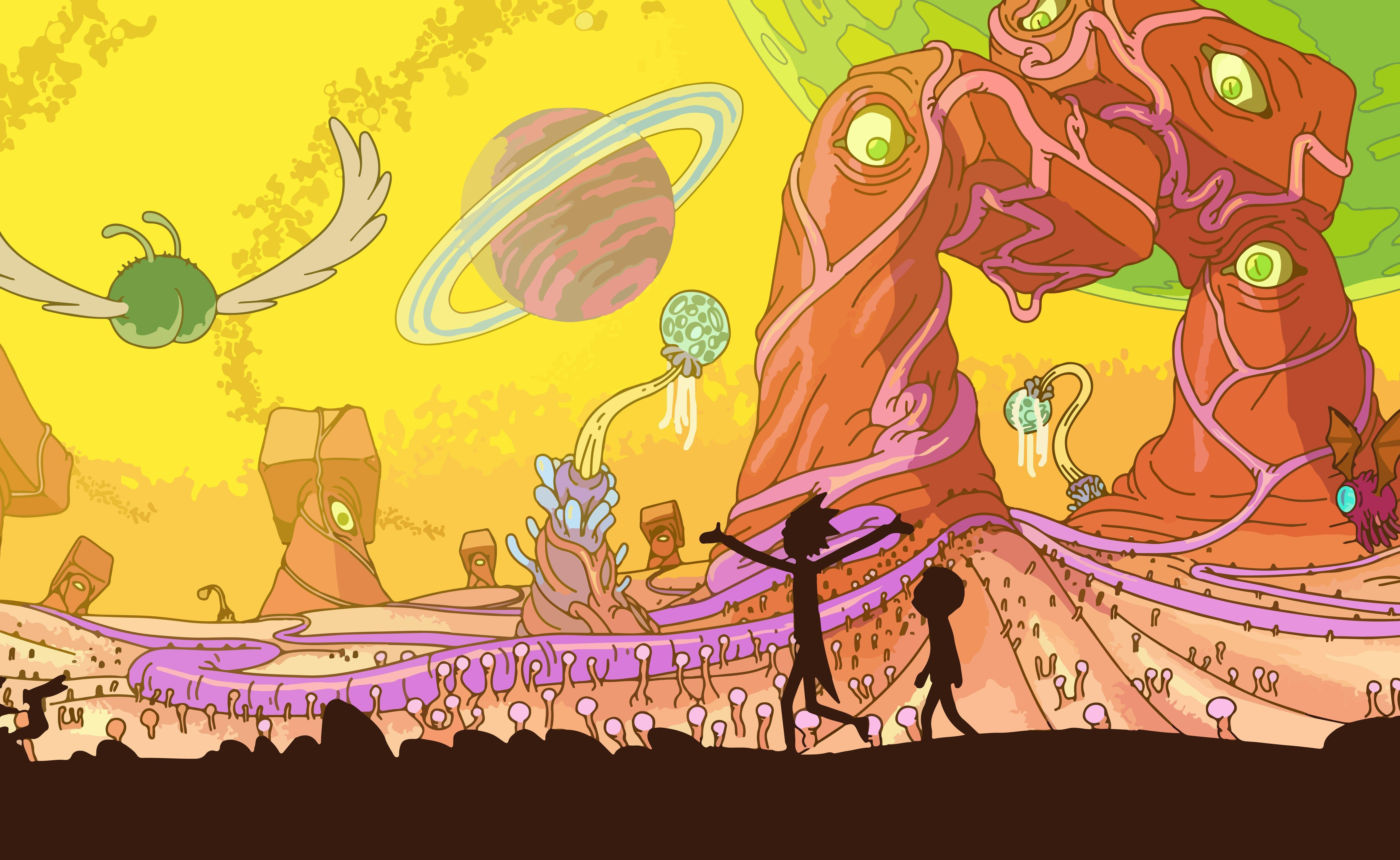 Rick And Morty Wallpapers 7098x4360