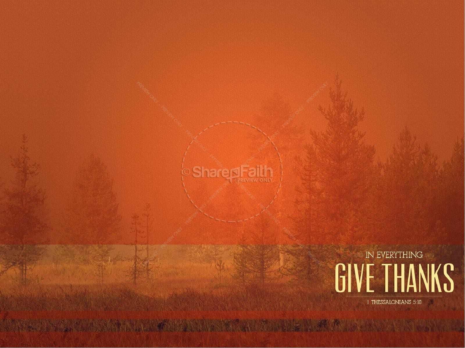 In Everything Give Thanks Sermon Thanksgiving PowerPoint Fall 1600x1200