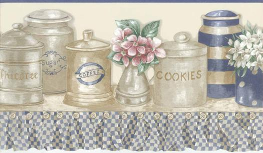 room in your home or office 877244 Country Plates Wallpaper Border 525x306