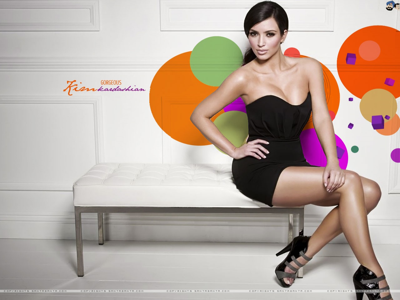 hot celebrities wallpapers 2012 Kim Kardashian Hot Wallpaper 2012 1280x960