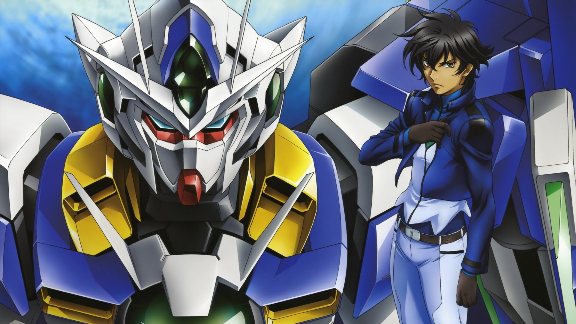 Boy Gundam Brunet Robot Pose Wallpaper Background Full HD 1080p 1920x1080
