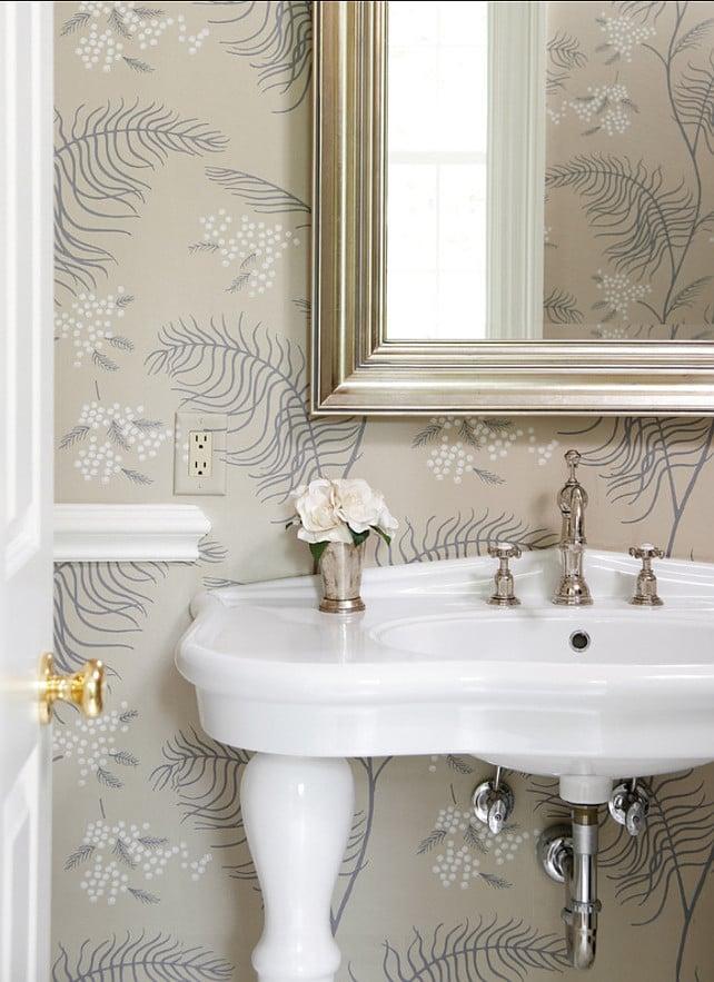 49 Small Powder Room Wallpaper On Wallpapersafari