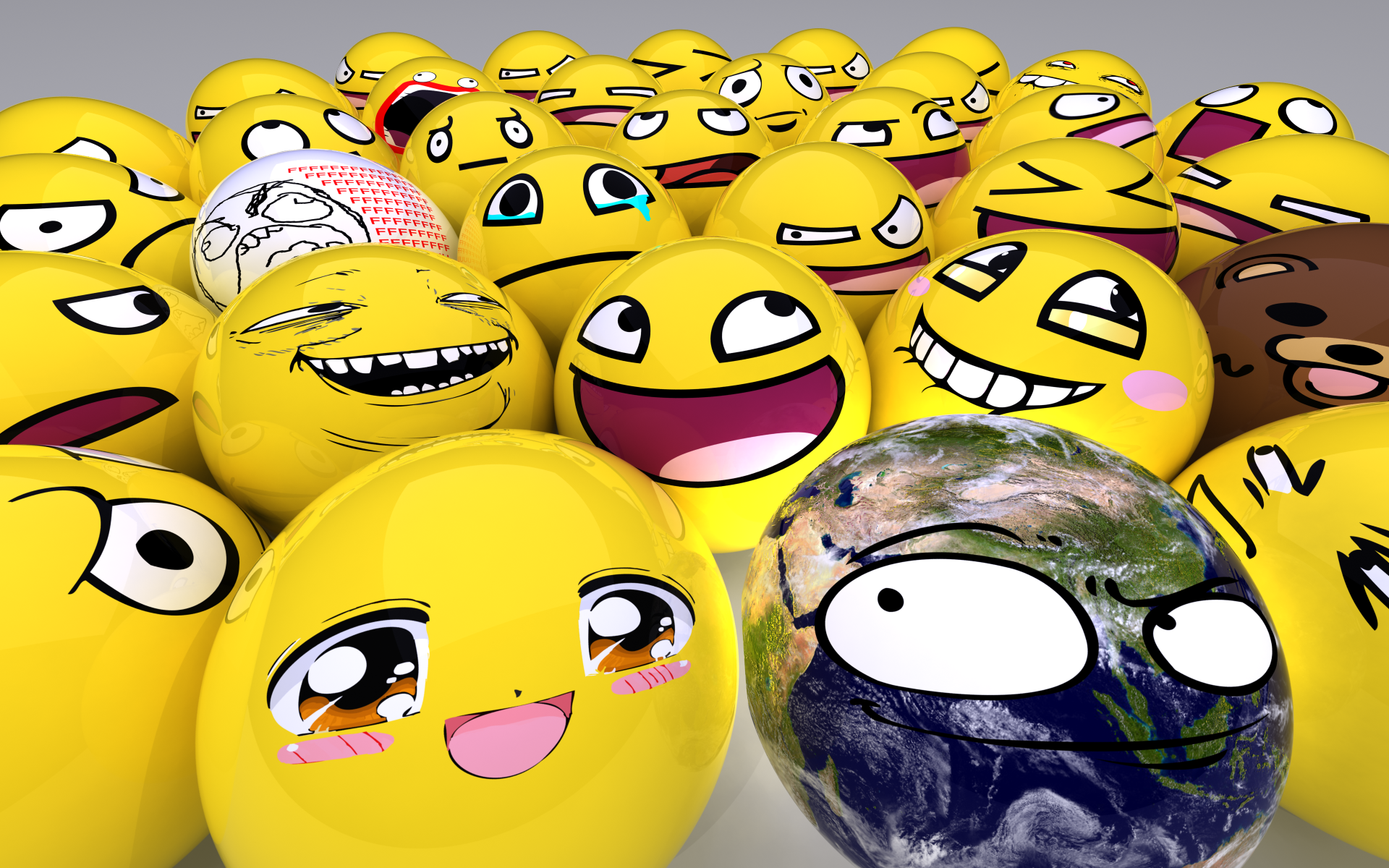 Awesome Smiley Face Wallpaper Awesome face wallpaper 1920x1200