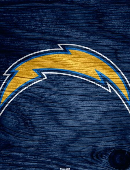 San Diego Chargers Blue Weathered Wood Wallpaper for Ainol Novo9 Spark 450x590