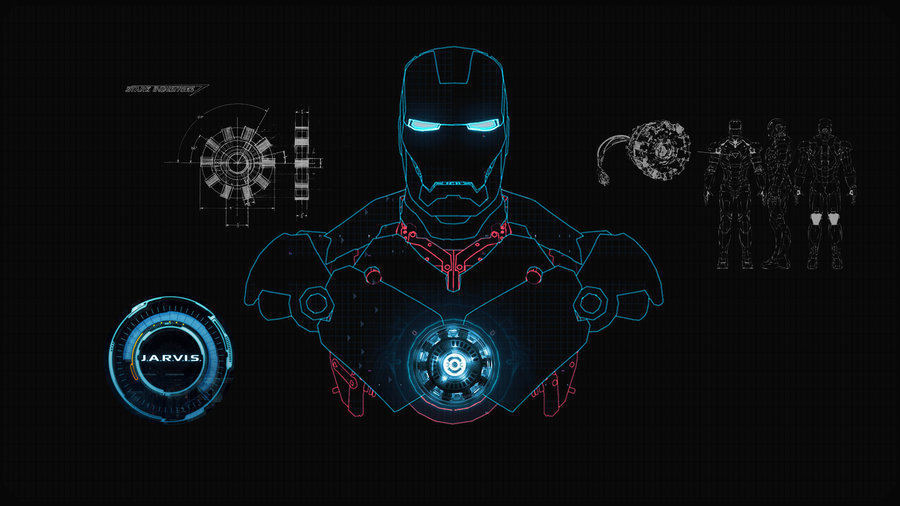 JARVIS SHIELD Interface Wallpaper by edreyes 900x506