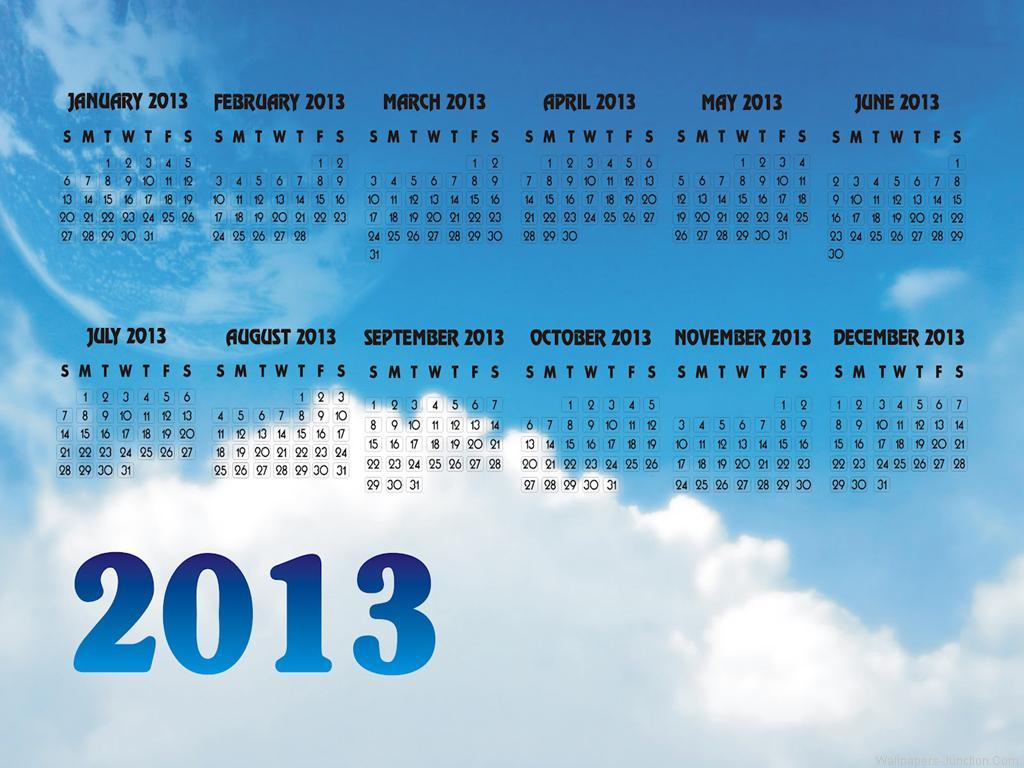 Latest 2013 Calendar HD Widescreen Wallpaper for Desktop PC and Mobile 1024x768