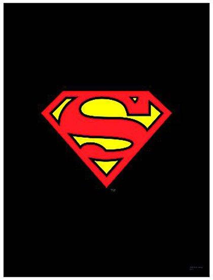 DC Heroes Wall Scroll Superman Logo Black   Westfield Comics 420x553