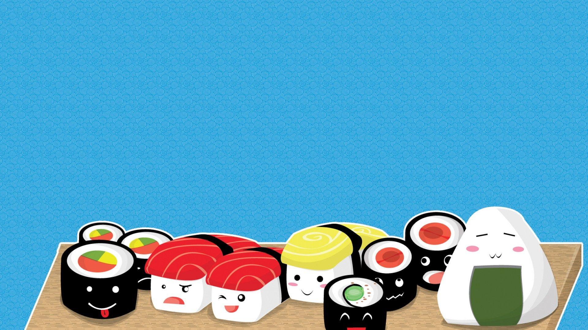 Cartoon Sushi Wallpapers   Top Cartoon Sushi Backgrounds 1920x1080