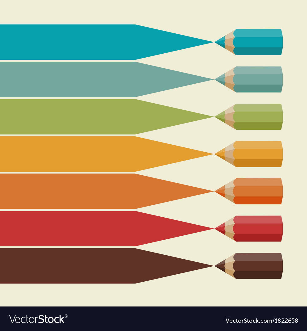 Creative infographics background with colored Vector Image 1000x1080