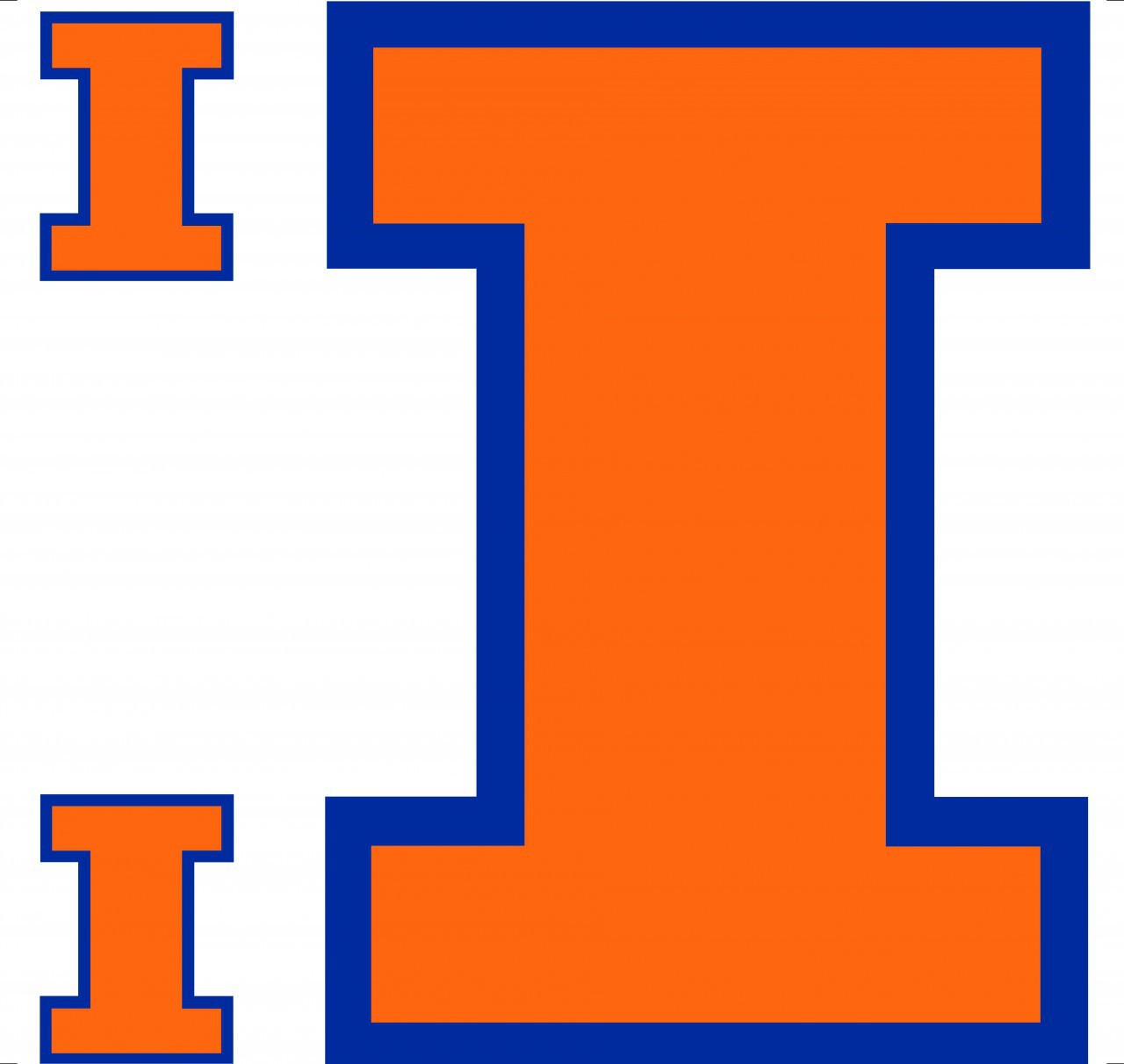 illinois fighting illini licensed wall decal 1280x1211