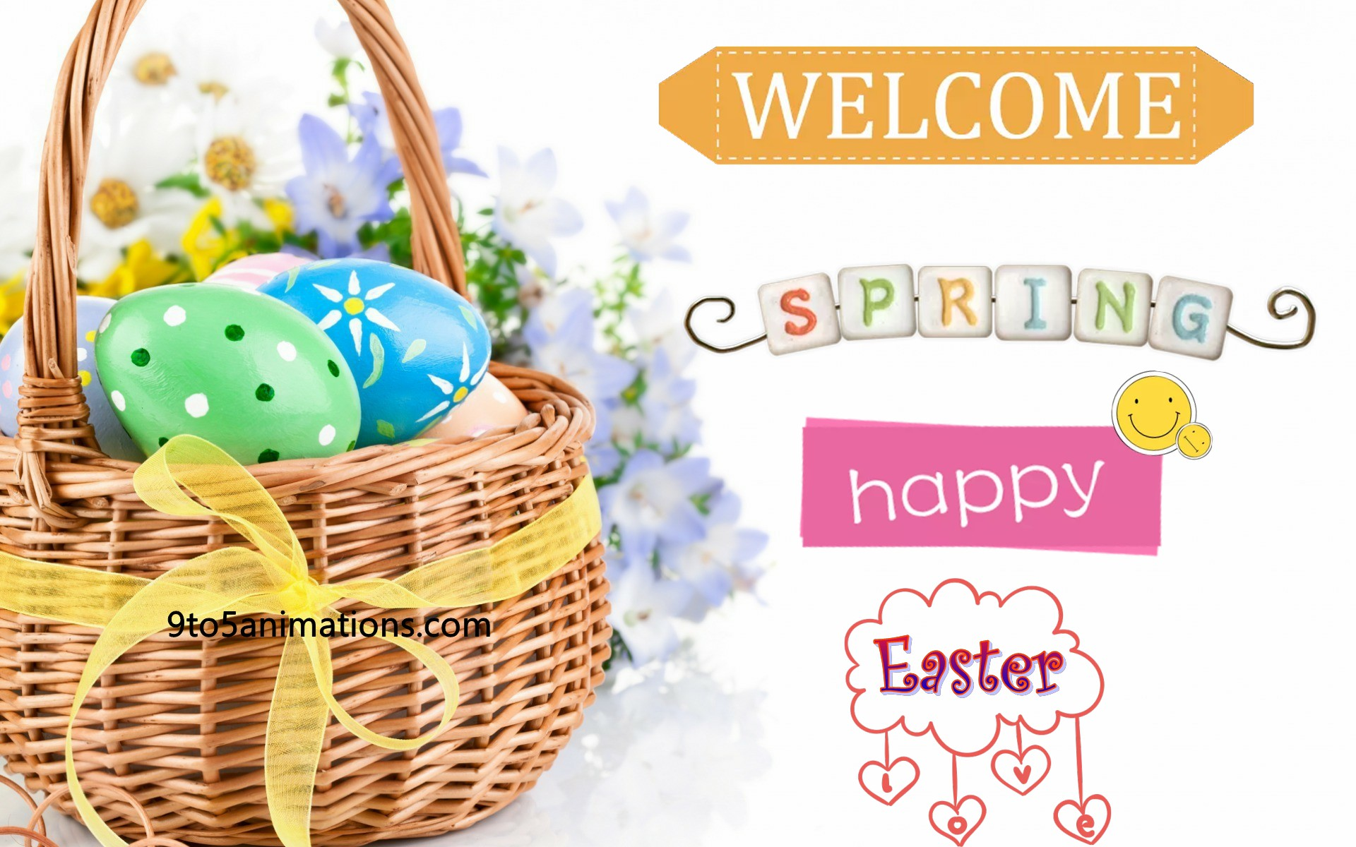 2018 Easter Wallpapers 9To5AnimationsCom 1920x1200