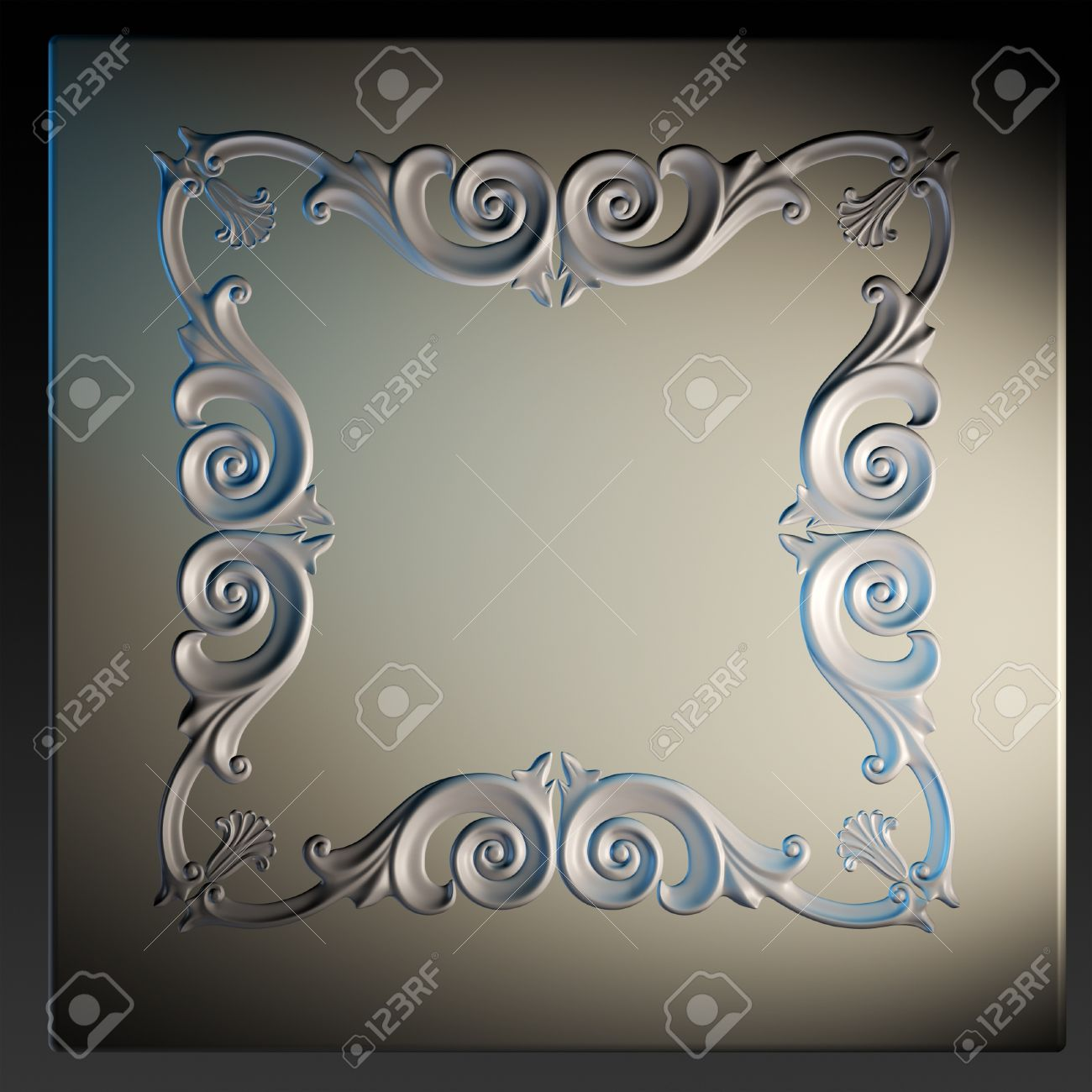 3d Frame The Sculptural Form On A Dark Background Stock Photo 1300x1300