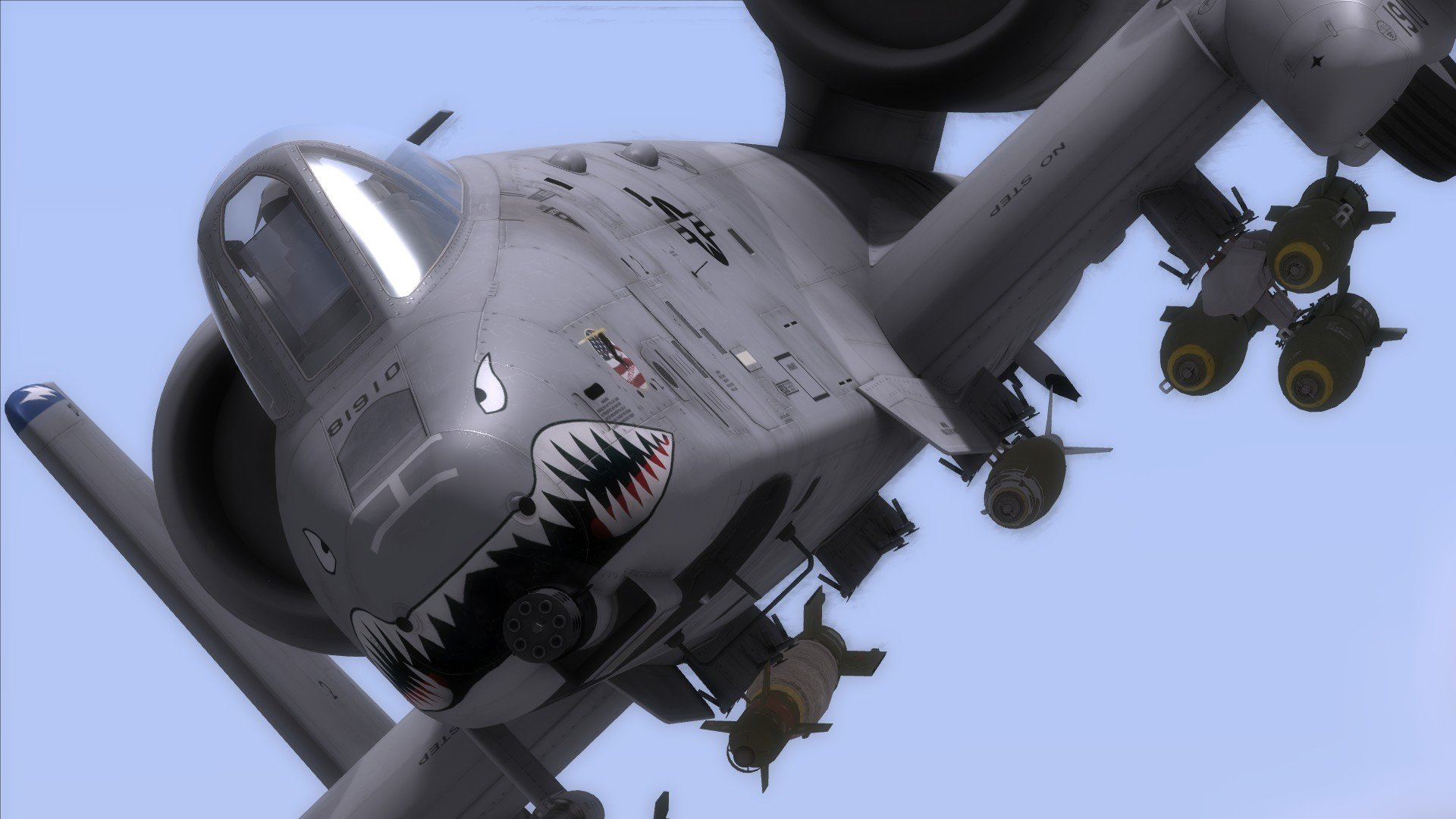 10 bomber jet fighter bomb military airplane plane thunderbolt warthog 1920x1080