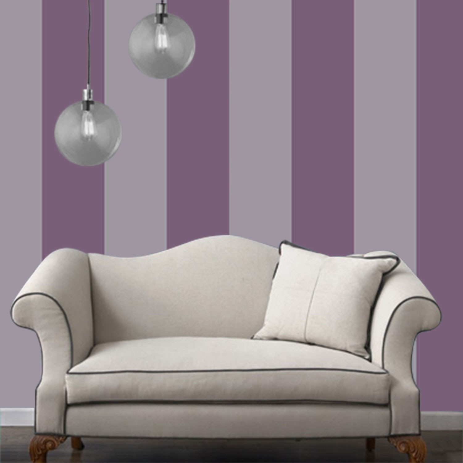 Temporary Wallpaper   Striped   Purple 1500x1500