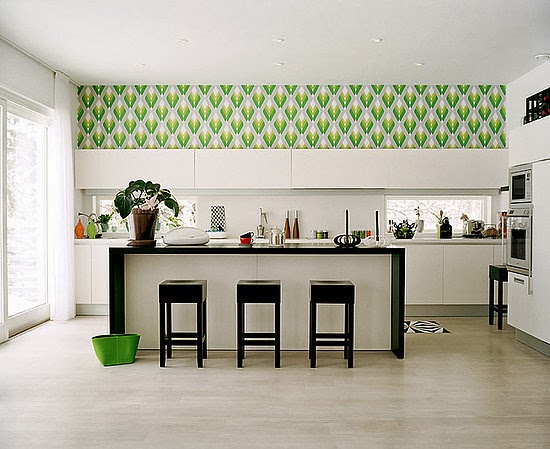 kitchen decorating ideas vinyl wallpaper for kitchen wall protection 550x449