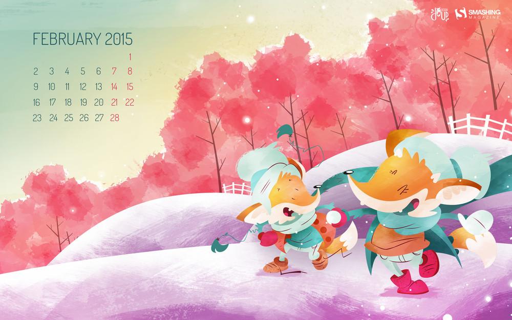 Desktop Wallpaper Calendars February 2015 Smashing Magazine 1000x625