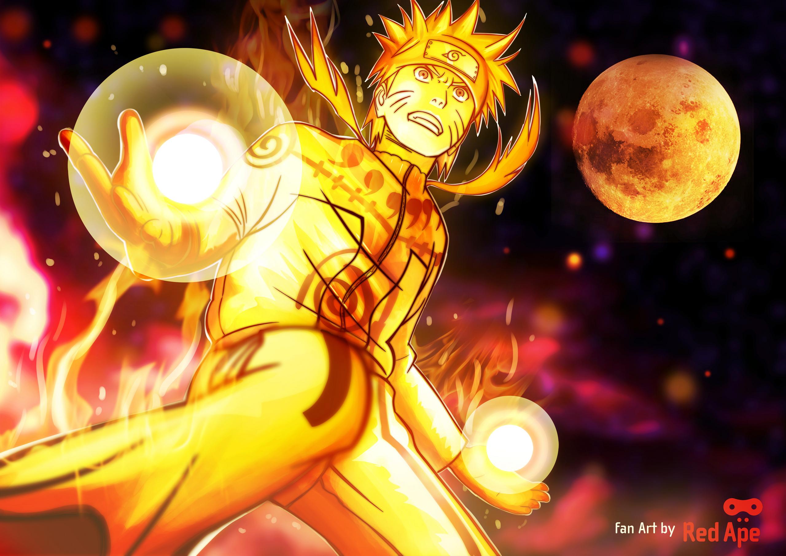 Naruto nine tails chakra mode   Uzumaki Naruto Shippuuden Photo 2560x1810