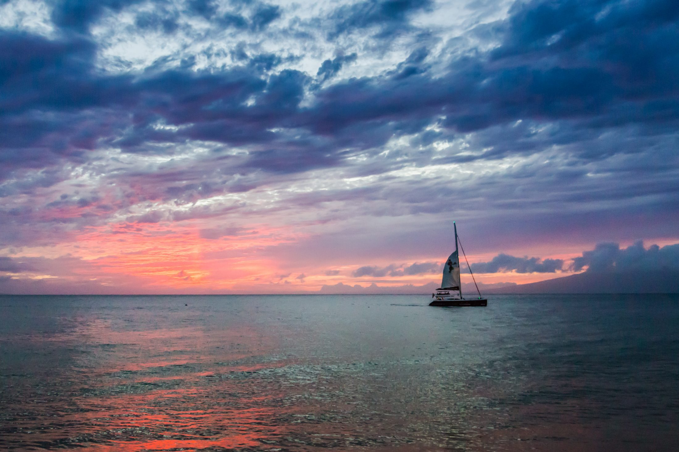 HD Wallpaper Sunset cruise sails by Kaanapali Beach Maui 2200x1466