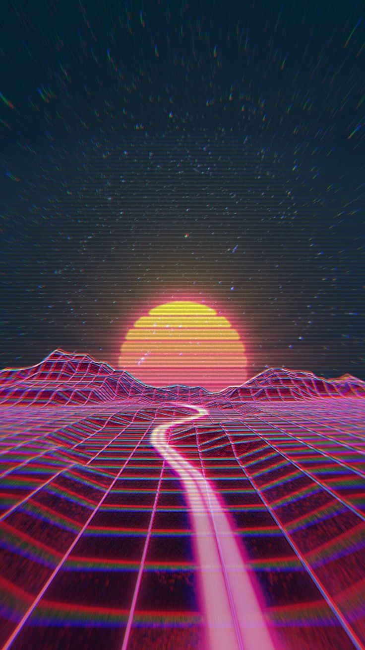 Retro wave synth wave Vaporwave wallpaper Aesthetic wallpapers 736x1308