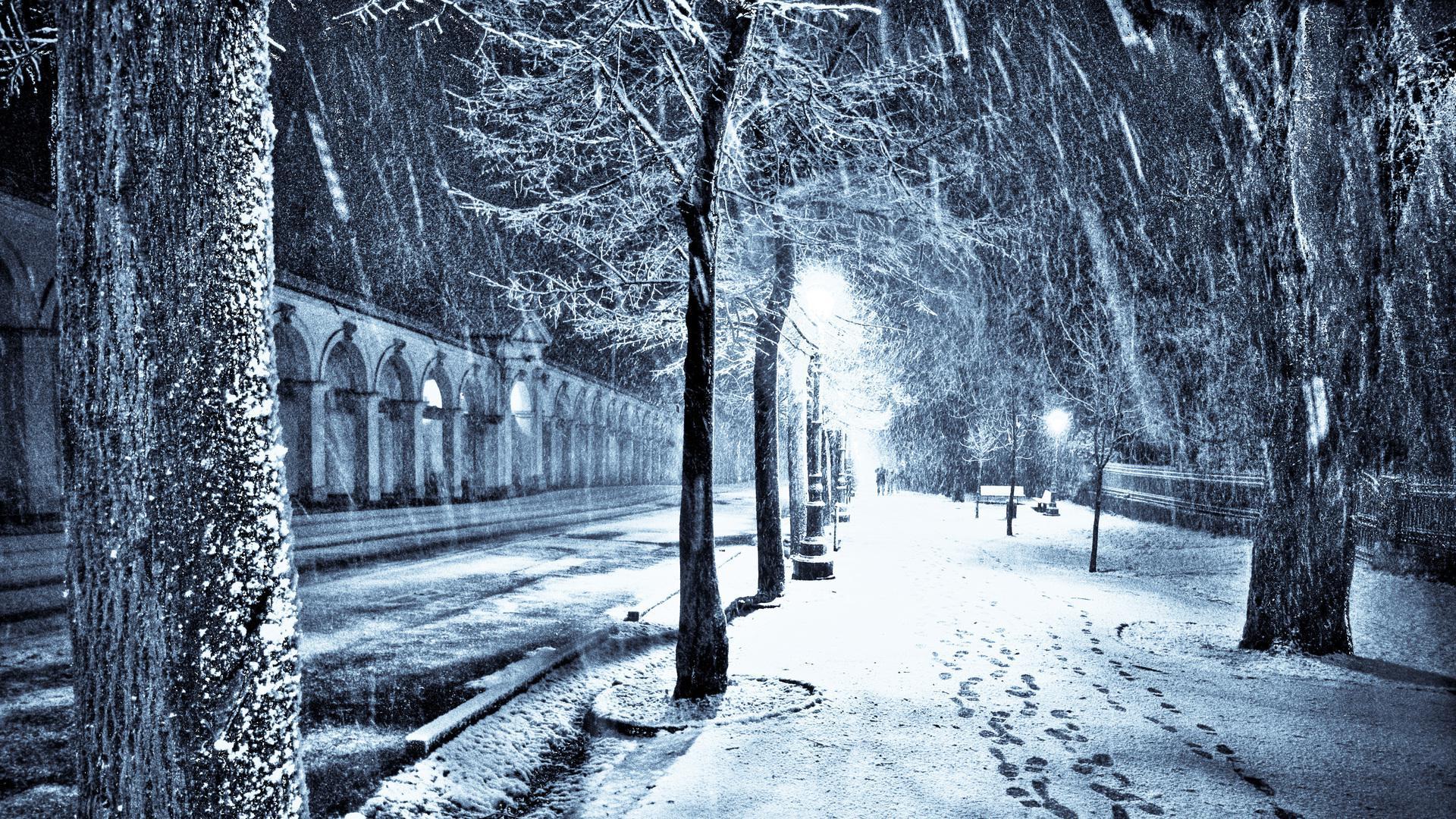 Snow In The City Wallpaper Wallpapersafari