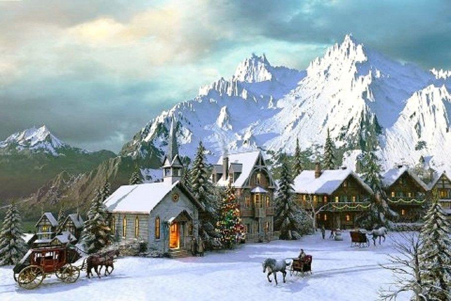 Christmas Village wallpaper   ForWallpapercom 909x606