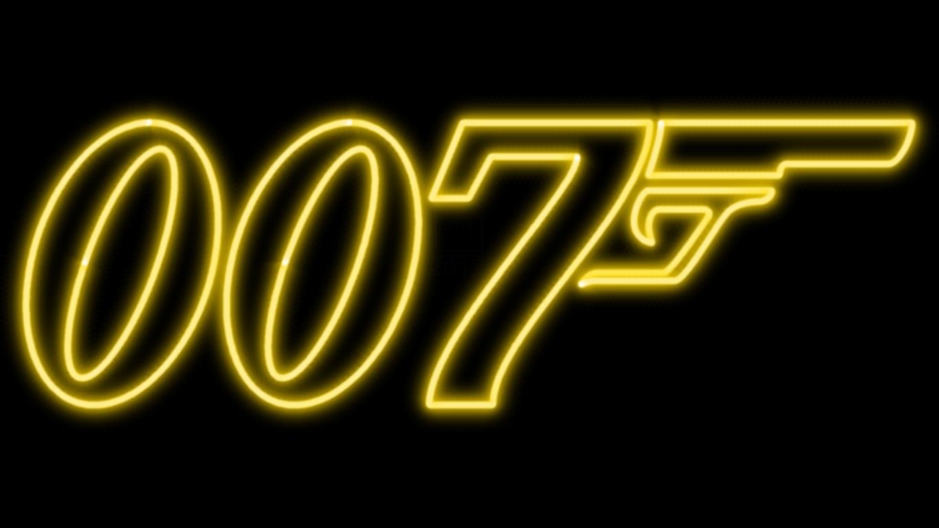 James Bond 007 Logo Wallpaper James Bond 007 Neon Symbol wp 1366x768