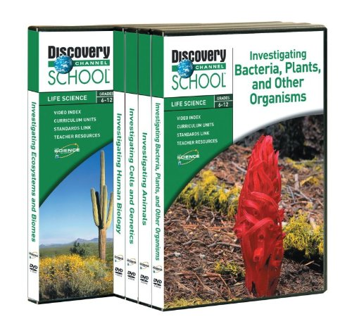 Discovery Education Life Science Investigation DVD Library Set of 5 500x470
