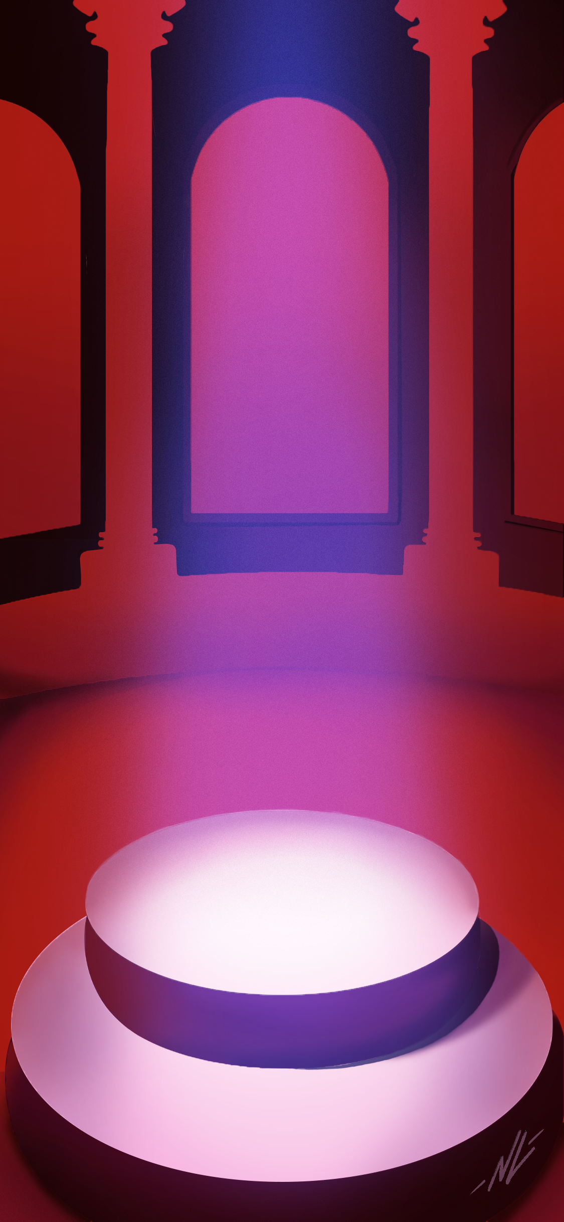 I digitally recreated an Instant Crush iPhoneAndroid wallpaper 1125x2436