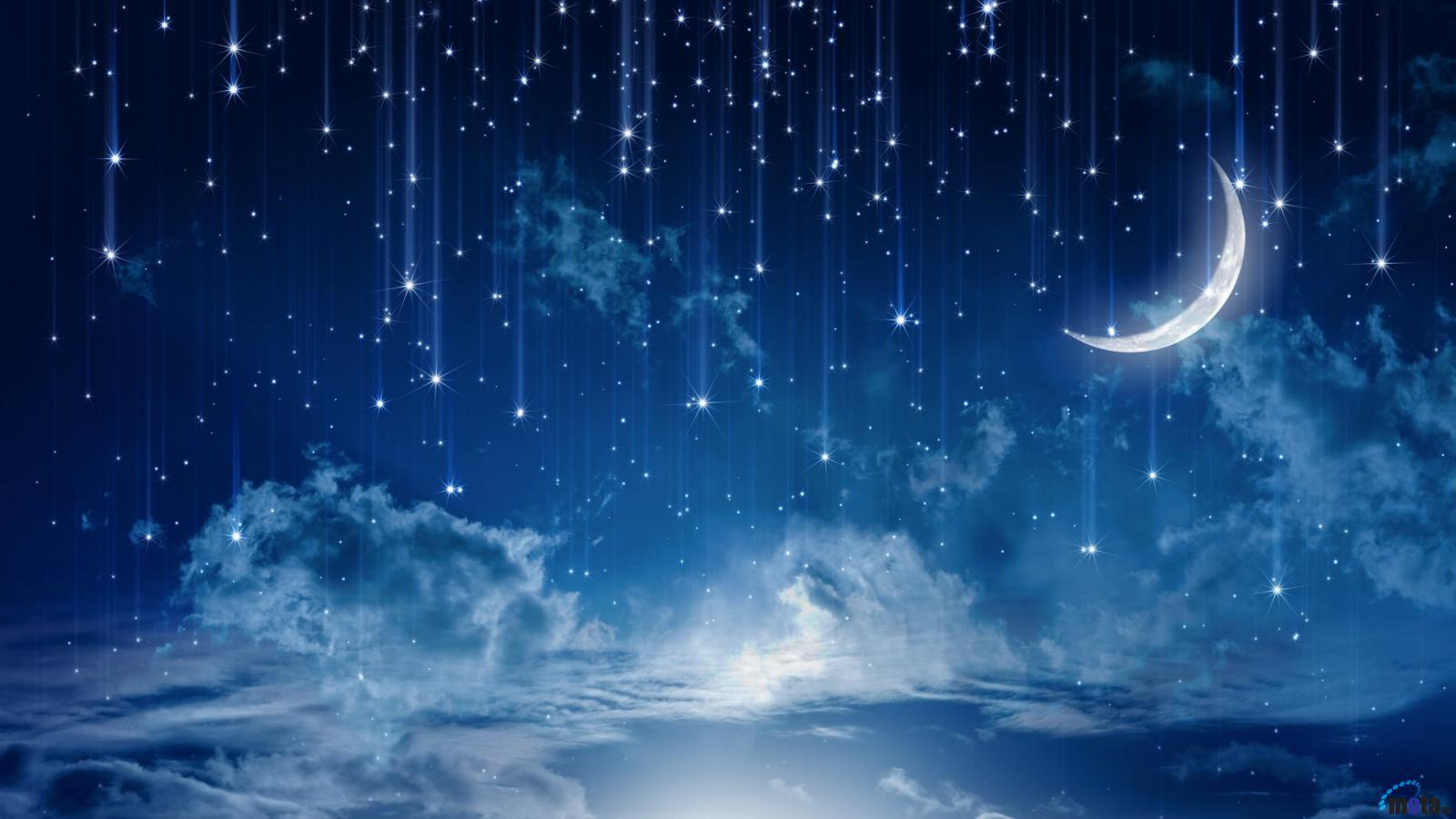 Download Wallpaper Mystical meteor shower 1600 x 900 widescreen 1600x900