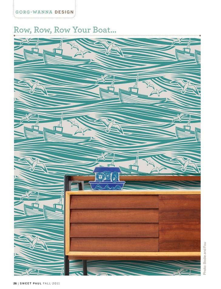 love the crazy tug boat wallpaper Doors Walls Windows Pintere 729x951