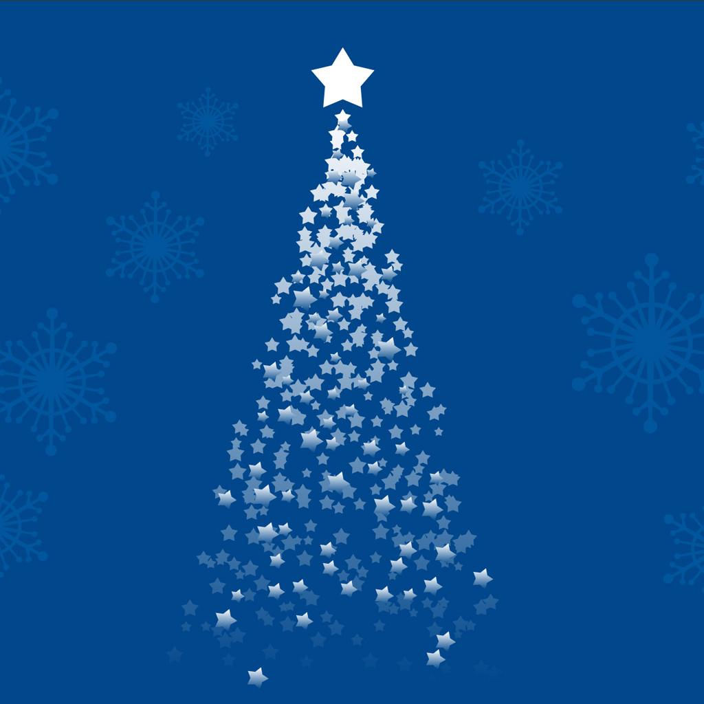 iPad Wallpapers Download Christmas Tree 1024x1024