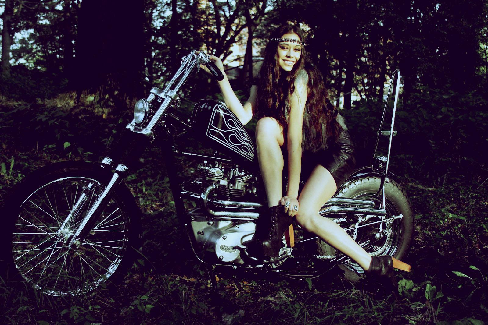 chopper motorcycle girl Chopper Girl 1600x1067