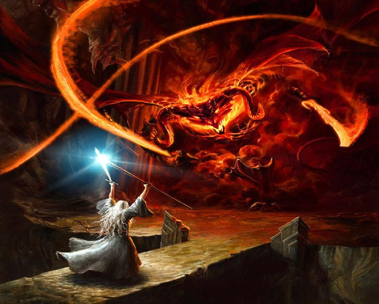 Gandalf vs Balrog Wallpaper - WallpaperSafari Gandalf Balrog Xp