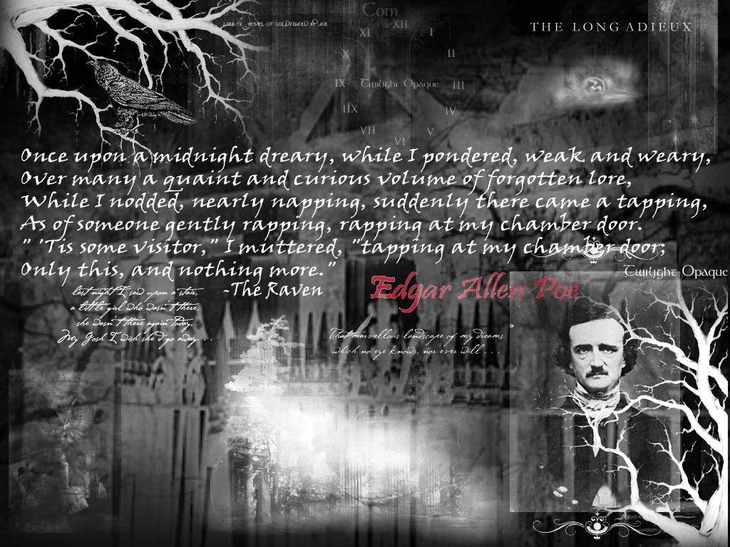 El Espejo Gtico El cuervo EA Poe wallpapers fondos 1024x768
