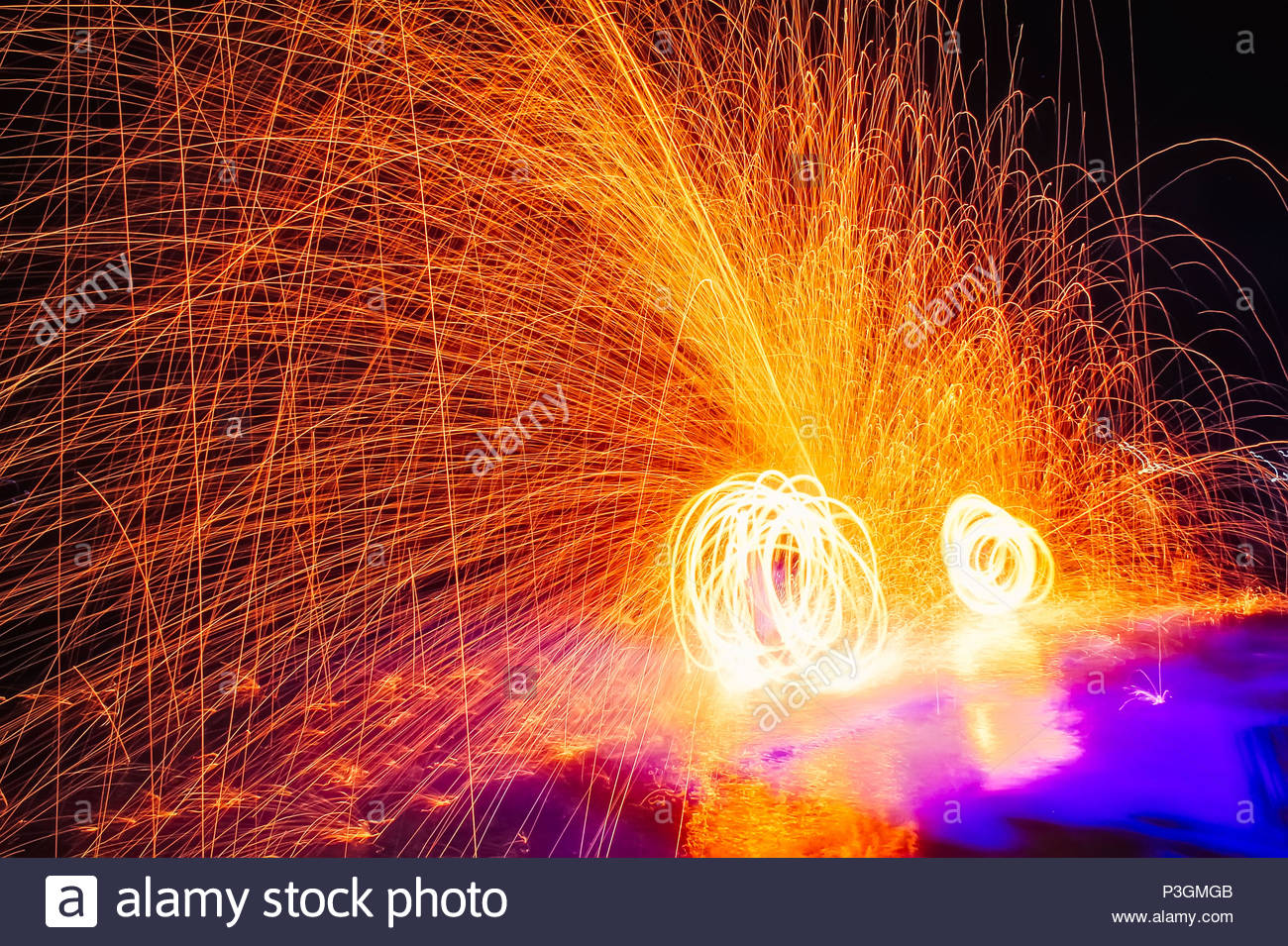 Fire show Amazing fire performance in the night Abstract fife 1300x955