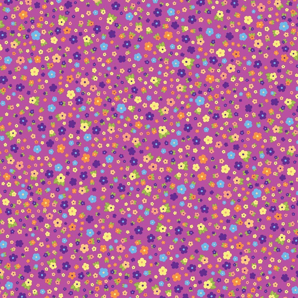 Flower Pattern Vector Background 1024x1024