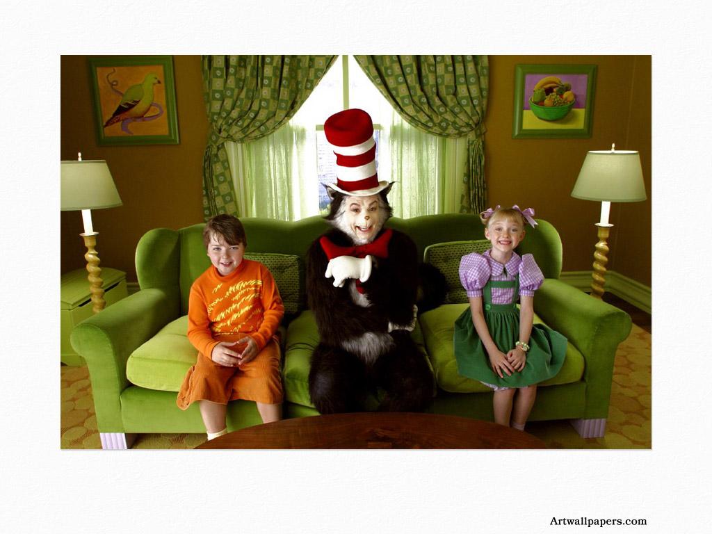 The Cat In the Hat Artwallpaperscom movie 1024x768 1024x768