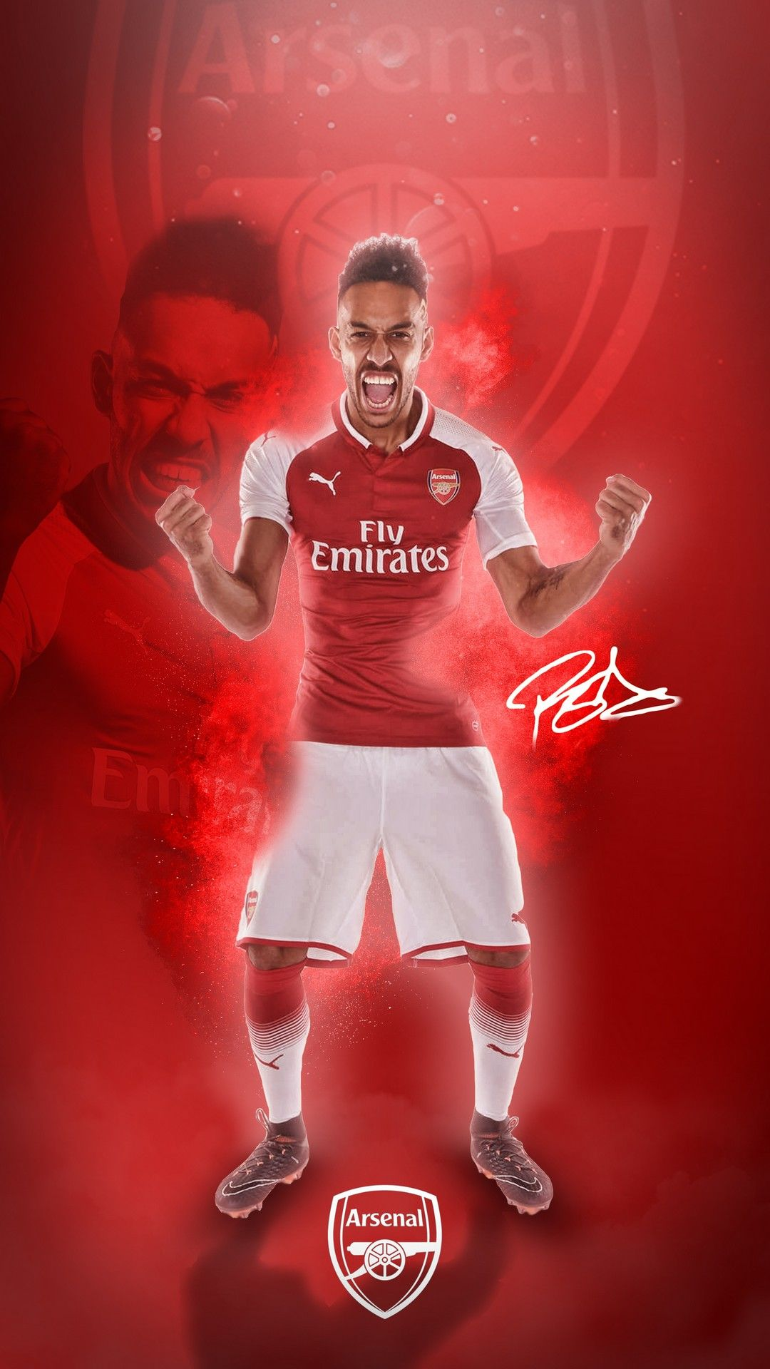 Aubameyang Arsenal Players Android Wallpaper   Best Android 1080x1920