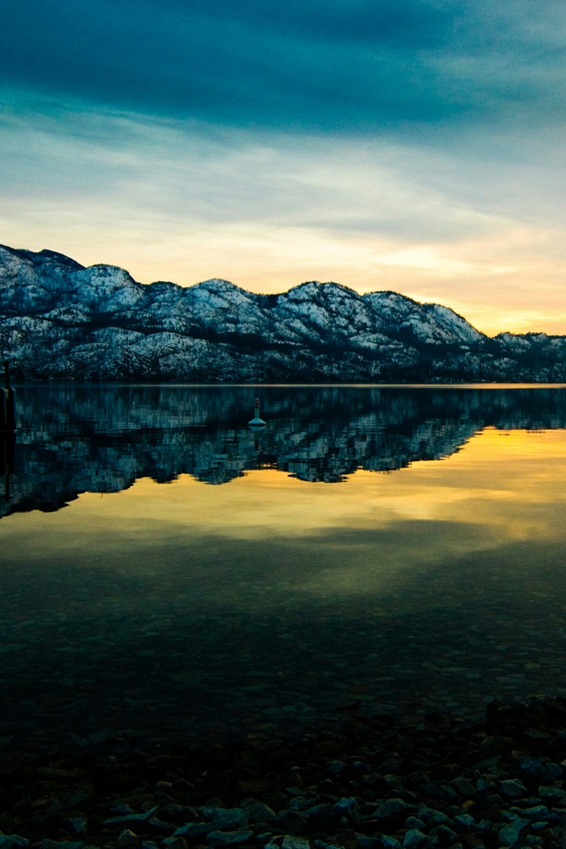Lake Placid iPhone 4 Wallpaper and iPhone 4S Wallpaper 640x960