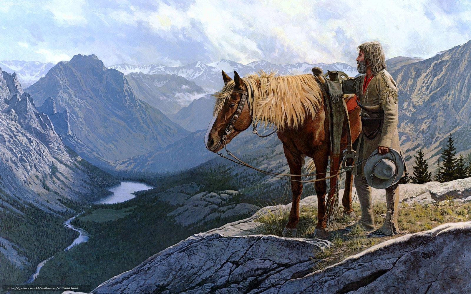 wallpaper Cowboy, muzhik, horse, Wild West free desktop wallpaper ...