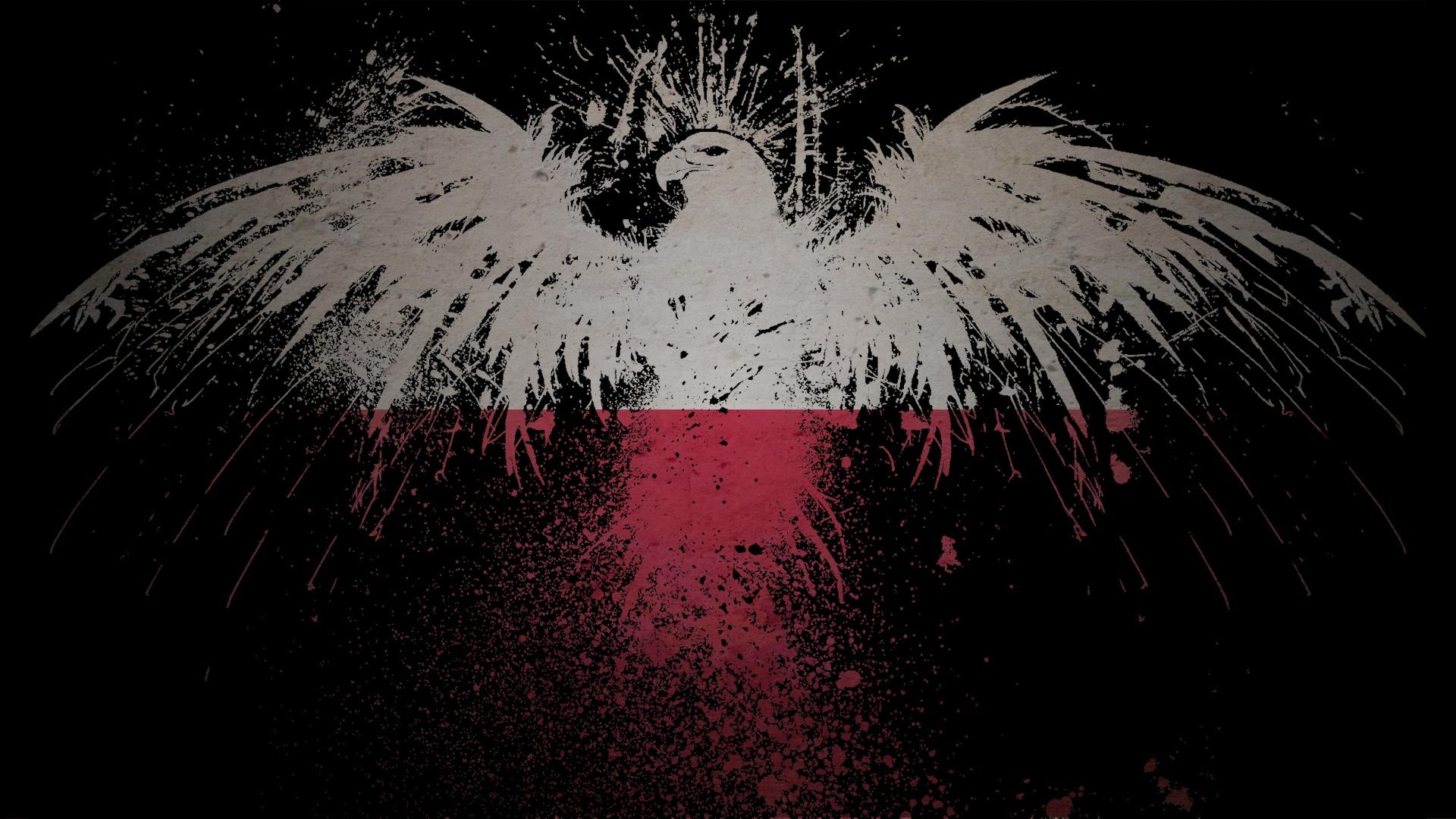 Eagles Flags Wallpaper 1920x1080 Eagles Flags Polish Poland 1920x1080