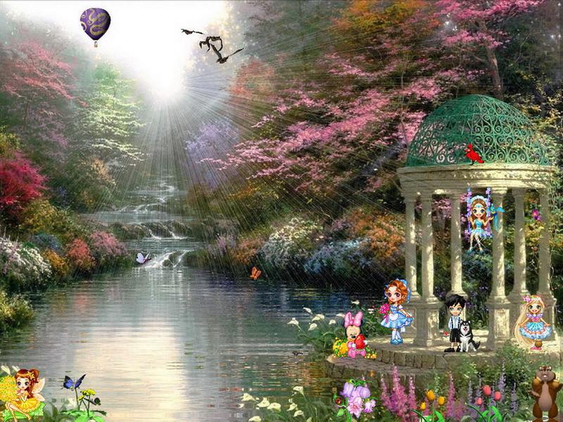 Funny Screensaver   Spring Dream   FullScreensaverscom 800x600