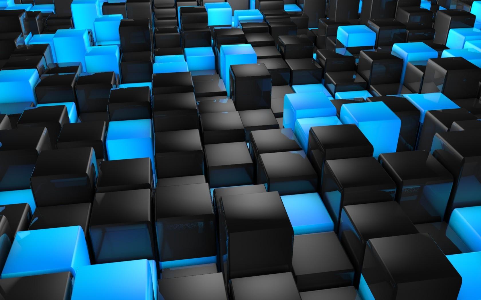 3D Black Cube Wallpaper Hd Wallpaper Background 1680x1050